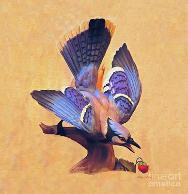 Digital Art - Blue Jay by Walter Colvin