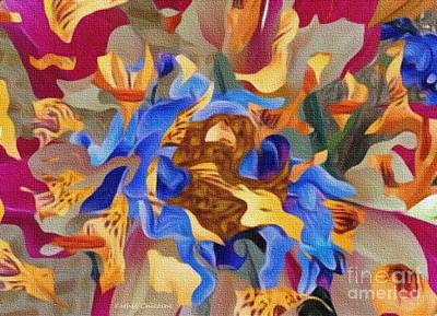 Digital Art - Blue Jazz by Kathie Chicoine