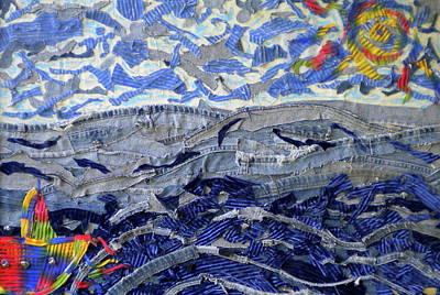 Blue Jean Beach Art Print