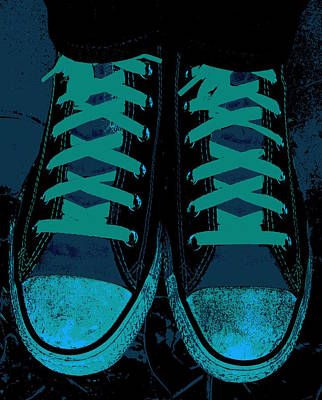 Foot Wear Digital Art - Blue Jean Blues by Ed Smith