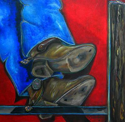 Blue Jeans And Boots Art Print by Patti Schermerhorn