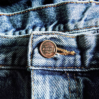 Photograph - Blue Jeans Button Macro Detail by YoPedro