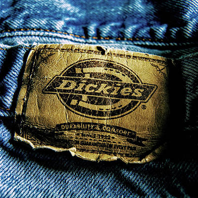 Photograph - Blue Jeans Logo Tag Close-up Detail by YoPedro