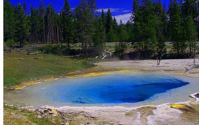 Yellowstone Digital Art - Blue Jewel by Vijay Sharon Govender
