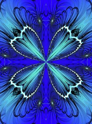 Digital Art - Blue K1 021611 by David Lane