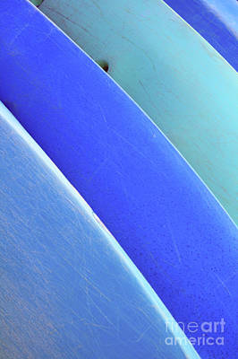 Blue Kayaks Art Print