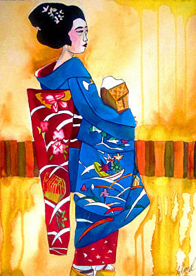 Painting - Blue Kimono 2 by Sacha Grossel