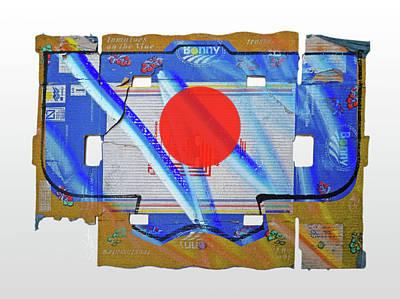 Cardboard Mixed Media - Blue Kimono by Charles Stuart