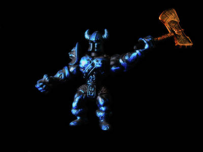 Photograph - Blue Knight by Mark Blauhoefer