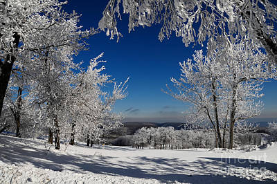 Winter Landscapes Photograph - Blue Knob by Lois Bryan