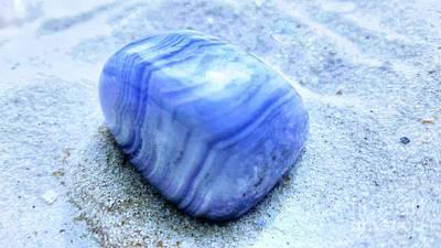 Photograph - Blue Lace Agate by Rachel Hannah