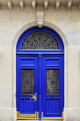 Photograph - Blue Lace Door - Paris, France by Melanie Alexandra Price