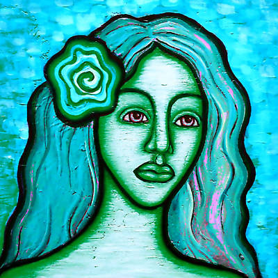 Painting - Blue Lady by Brenda Higginson