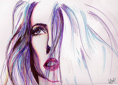 Painting - Blue Lady by Michael Amos