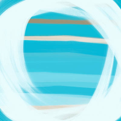 Caribbean Sea Painting - Blue Lagoon by Frank Tschakert