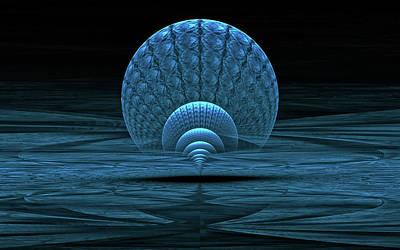 Digital Art - Blue Lagoon by GJ Blackman