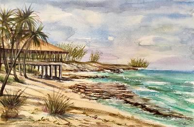 Painting - Blue Lagoon Island by Katerina Kovatcheva
