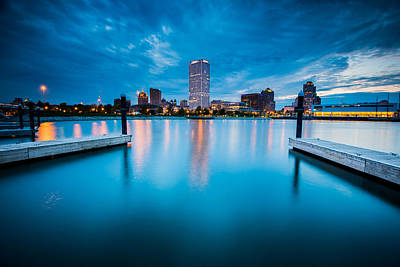 City Skyline Wall Art - Photograph - Blue Lagoon by Josh Eral