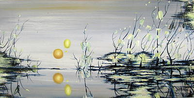 Blue Lagoon Art Print by Judy Merrell