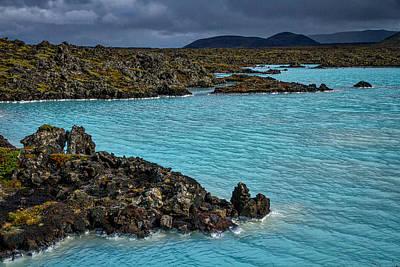 Photograph - Blue Lagoon Landscape #2 - Iceland by Stuart Litoff