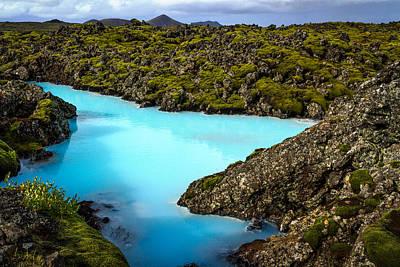 Photograph - Blue Lagoon Landscape - Iceland by Stuart Litoff