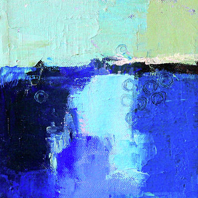 Painting - Blue Lagoon by Nancy Merkle