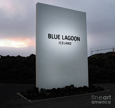 Photograph - Blue Lagoon Sign  6142 by Jack Schultz
