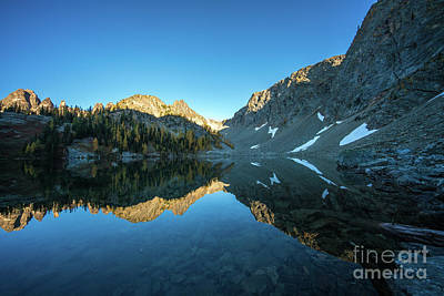 Photograph - Blue Lake Alpenglow by Mike Reid