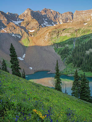Photograph - Blue Lake And Dallas Peak by Aaron Spong