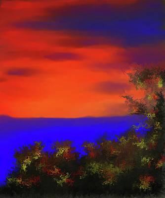 Representative Abstract Photograph - Blue Lake At Red Sky Mountain by David Raderstorf