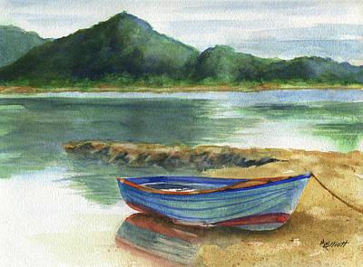 Blue Lake Greece Original by Marsha Elliott