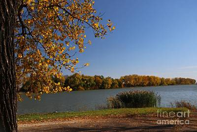 Photograph - Blue Lake In Fall by Yumi Johnson