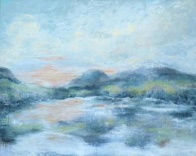 Painting - Blue Lake  by Katrina Nixon