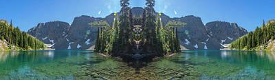 Surrealism Digital Art Rights Managed Images - Blue Lake Reflection Royalty-Free Image by Pelo Blanco Photo