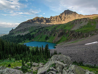 Photograph - Blue Lakes Basin by Aaron Spong