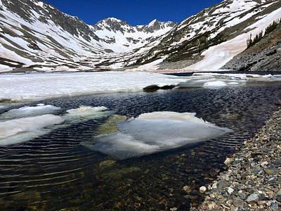 Photograph - Blue Lakes Iceberg by Dan Miller