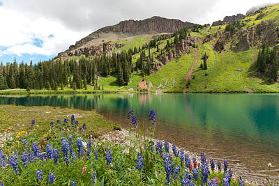 Art Print featuring the photograph Blue Lakes Summer Splendor by Cascade Colors