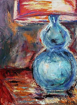 Painting - Blue Lamp by Jill Tennison