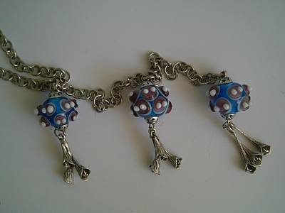 Flameworking Glass Art - Blue Lampwork Jewellery by Ozlem Ercan