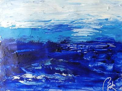 Inner World Painting - Blue Landscape IIi by Bachmors Artist