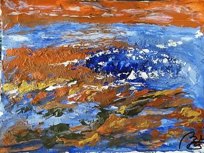 Inner World Painting - blue landscape V by Bachmors Artist