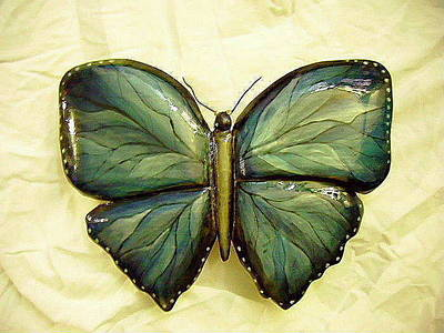 Dryriver Relief - Blue Lexi Butterfly by Lisa Ruggiero