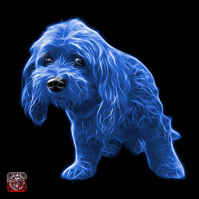 Painting - Blue Lhasa Apso Pop Art - 5331 - Bb by James Ahn