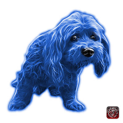 Painting - Blue Lhasa Apso Pop Art - 5331 - Wb by James Ahn