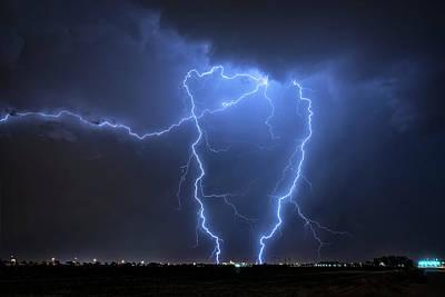 Photograph - Blue Lightning  by Saija Lehtonen