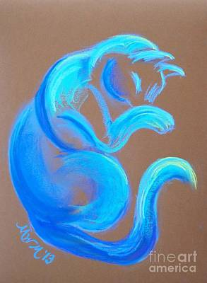 Blue Like Cats Art Print