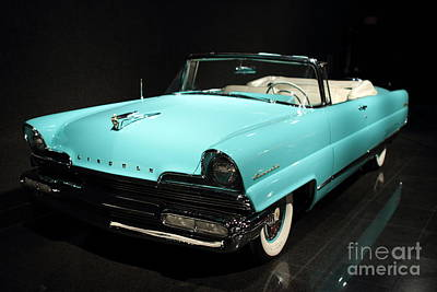 Car Photograph - Blue Lincoln Continental by Transportation Photographs