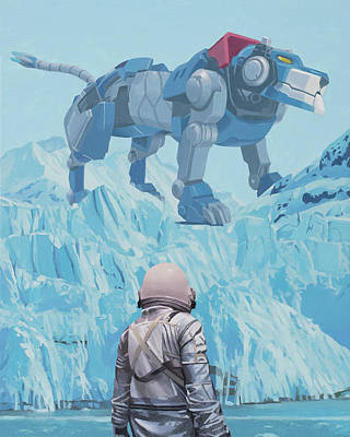 Science Fiction Painting - Blue Lion by Scott Listfield