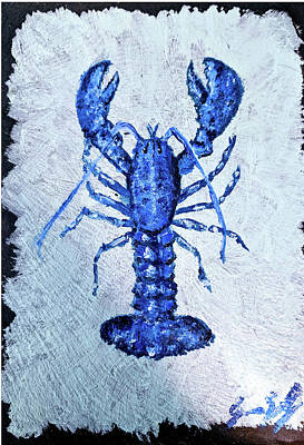 Painting - Blue Lobster 1 by Jeannine Selig