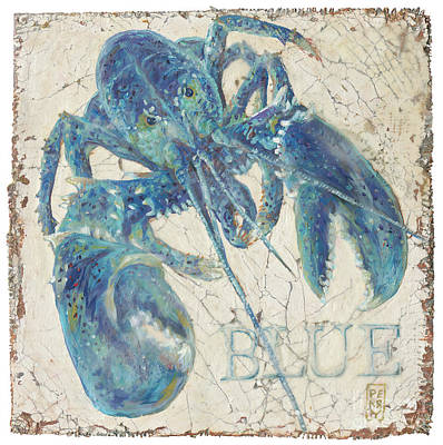 Blue Lobster Original by Danielle Perry